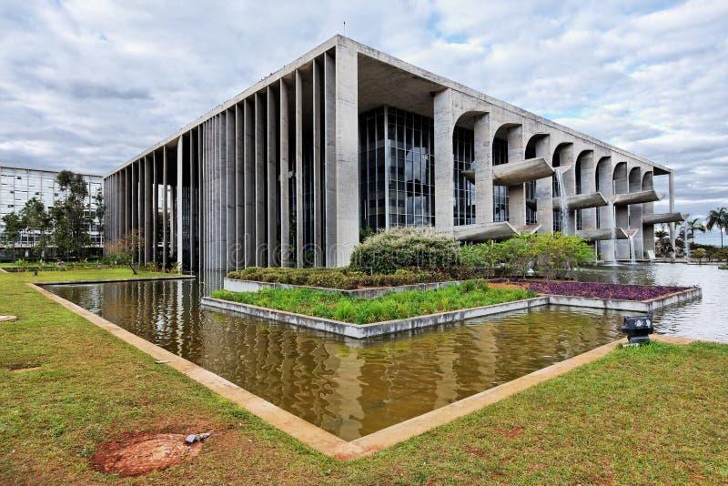 Palacio de la justicia en Brasilia fotografía de archivo