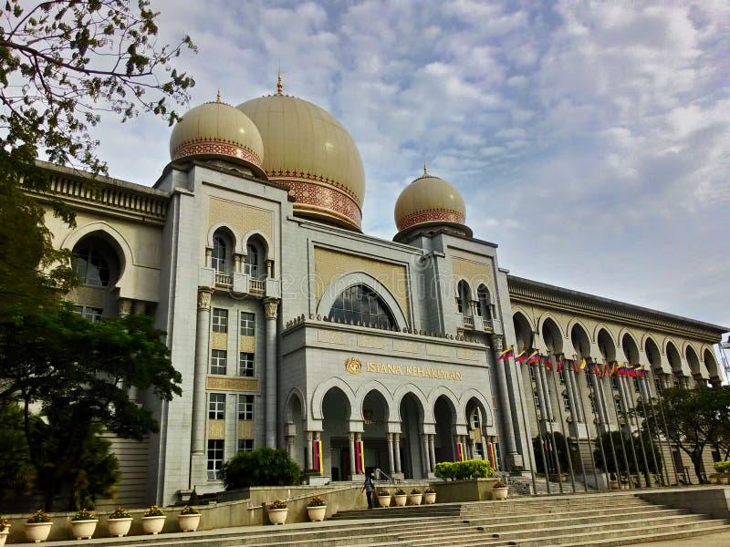 Palacio de la justicia Mahkamah Persekutuan Malaysia foto de archivo libre de regalías