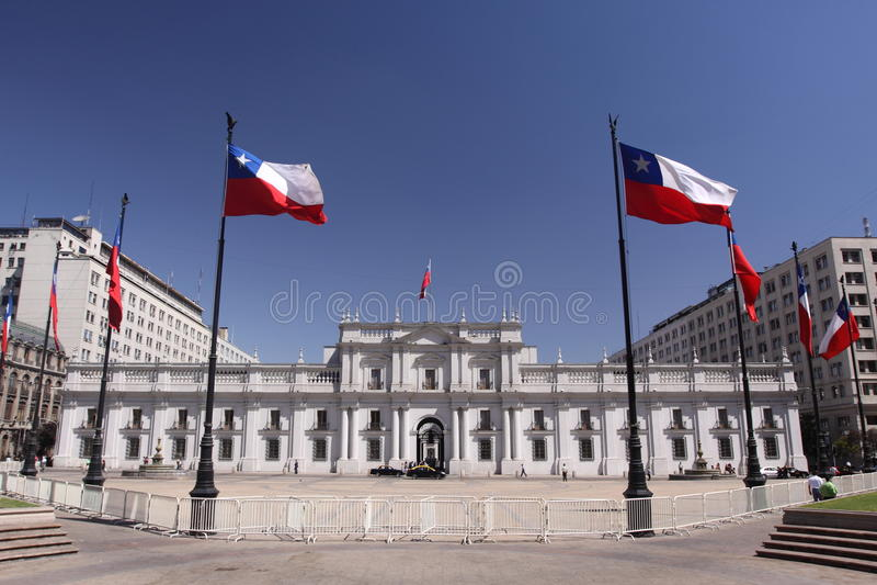 Palacio de La Moneda photographie stock
