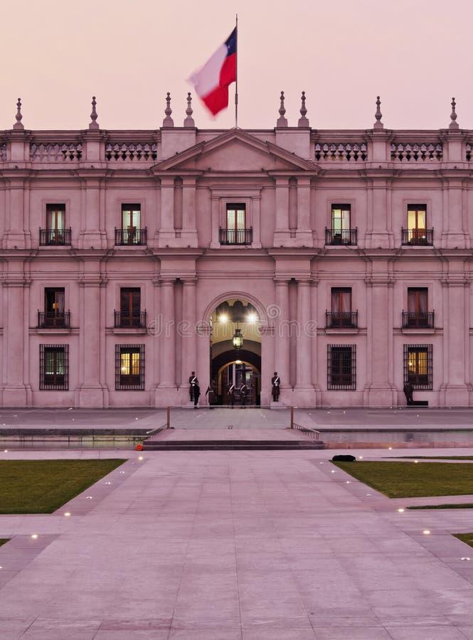 Palacio de La Moneda en Santiago de Chile photo libre de droits