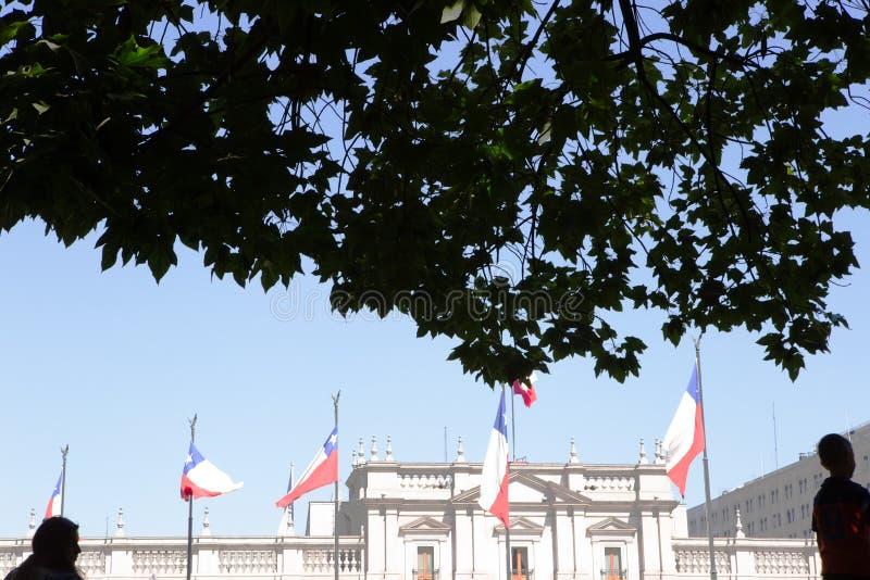 Palacio DE La Moneda, Santiago, Chili stock afbeelding