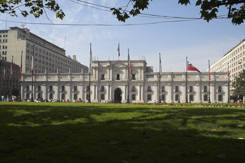 Palacio de La Moneda Santiago hace Chile fotografía de archivo libre de regalías