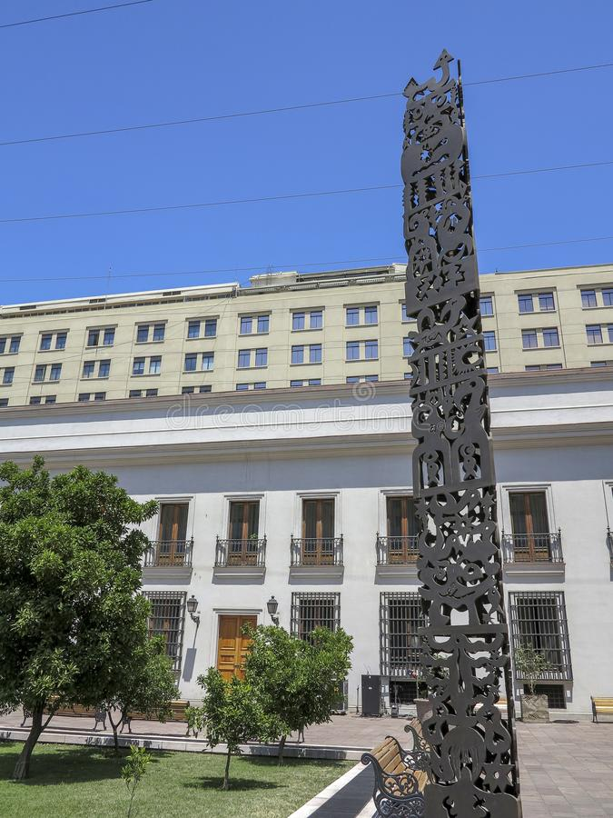 Palacio de la Moneda, Santiago, o Chile fotografia de stock