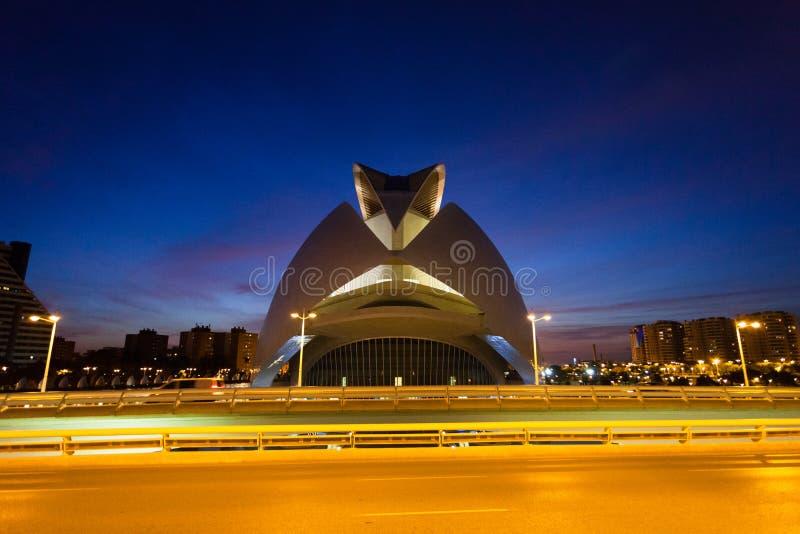 Palacio de las Artes Reina Sofia, Valencia royaltyfri foto