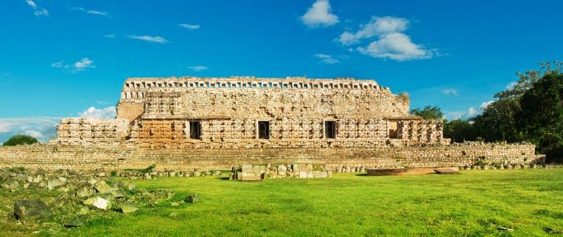 Palacio de las máscaras en Kabah, Yucatán, México imagen de archivo libre de regalías
