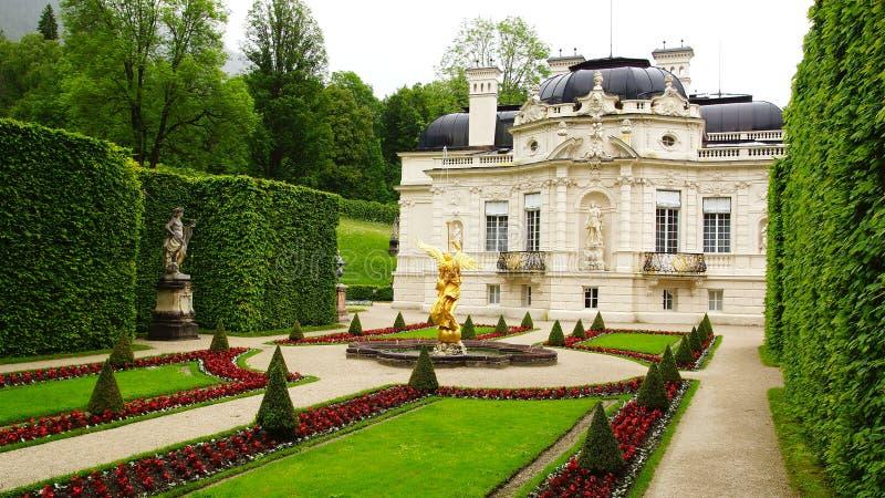 Palacio de Linderhof. fotos de archivo