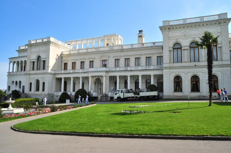 Palacio de Livadia Rersidance ruso del zar, Nicolás II, y su familia en Livadiya, Crimea La conferencia de Yalta foto de archivo