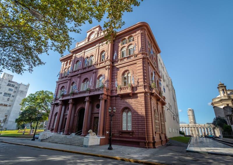 Palacio de los Леон Дворец здания городского управления львов - Rosario, Санта-Фе, Аргентина стоковое фото