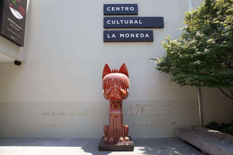 Palacio De Los Angeles Moneda Kulturalny centrum, Santiago de Chile, Chile obraz stock