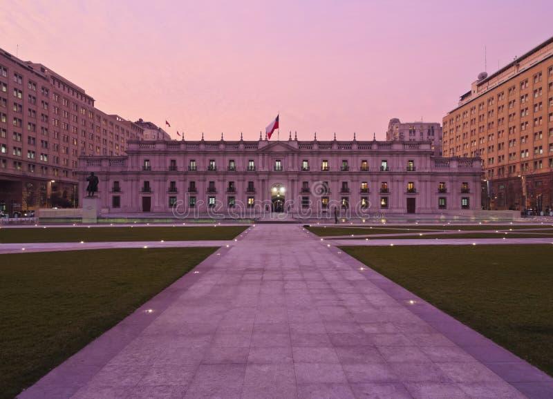 Palacio De Los Angeles Moneda w Santiago de Chile obrazy stock