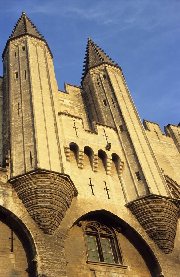 Palacio de los papas, Avignon, Francia foto de archivo libre de regalías