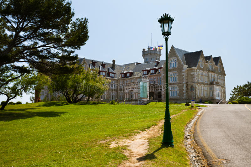 Palacio de Magdalena en Santander, Cantabria fotografía de archivo libre de regalías