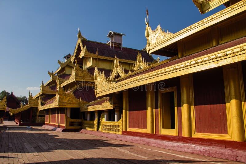 Palacio de Mandalay, Mandalay en Myanmar (Burmar) fotos de archivo libres de regalías