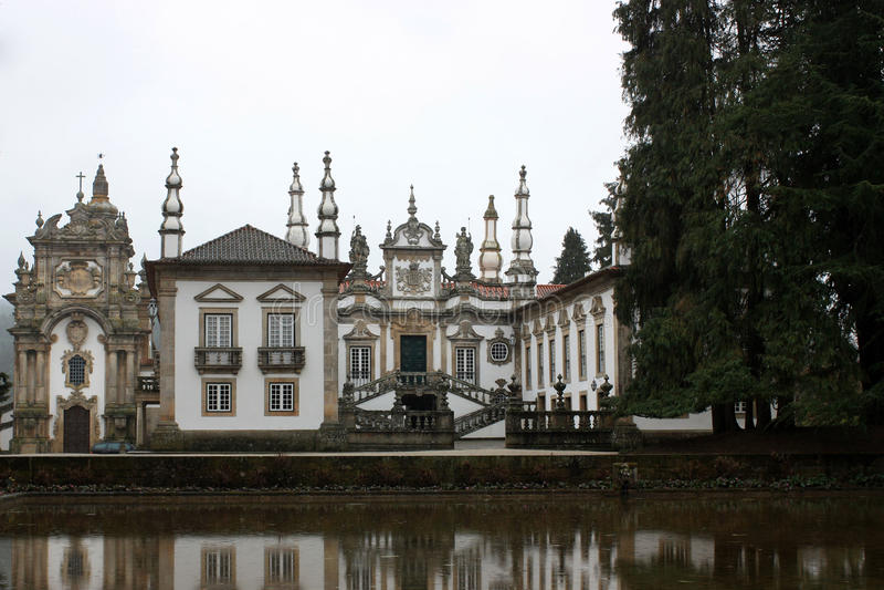 Palacio de Mateus Portugal royaltyfri bild