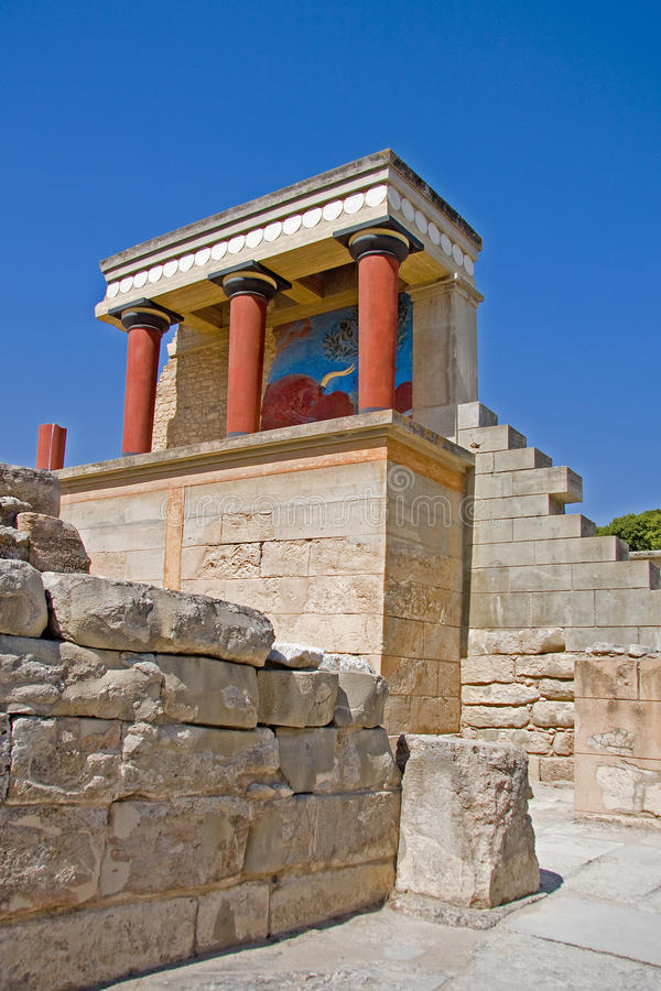 Palacio de Minoan en Knossos imagen de archivo