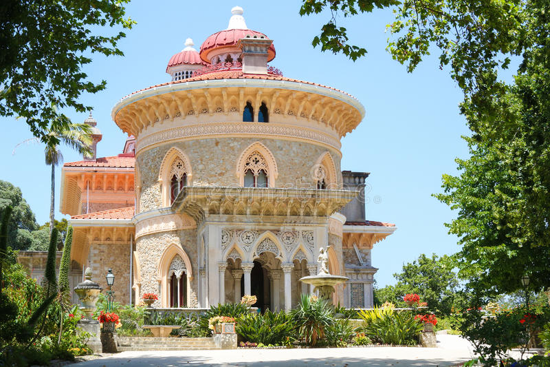 Palacio de Monserrate en Sintra, Portugal imagen de archivo