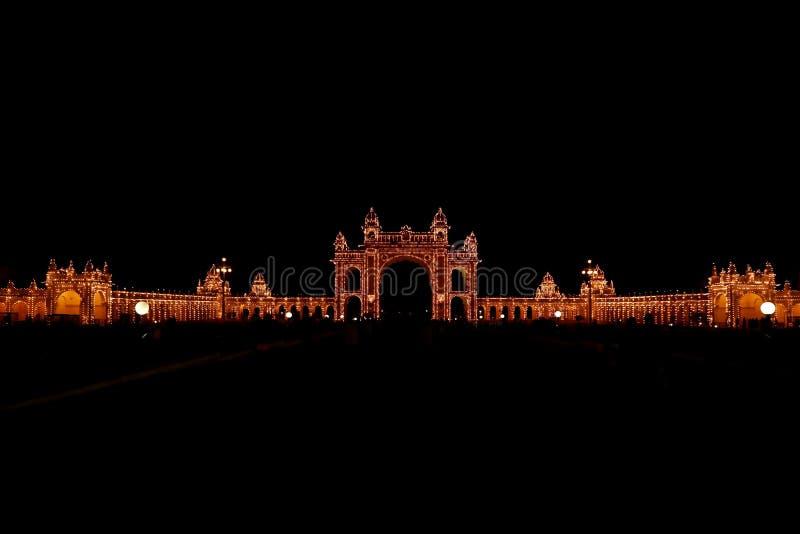 Palacio de Mysore, la India imagen de archivo libre de regalías