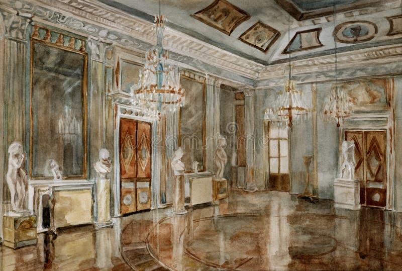 Palacio de Ostankino ilustración del vector
