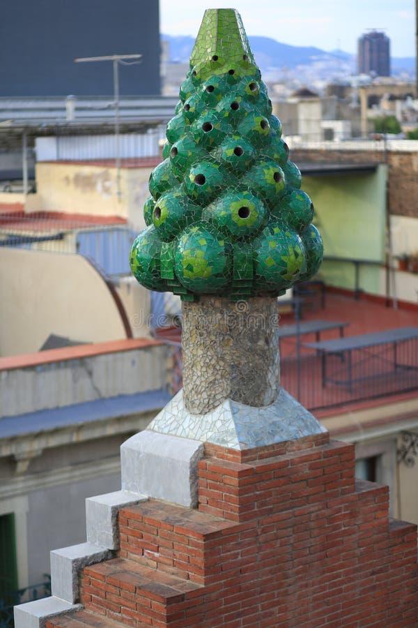 Palacio de Palau Guell fotografía de archivo libre de regalías