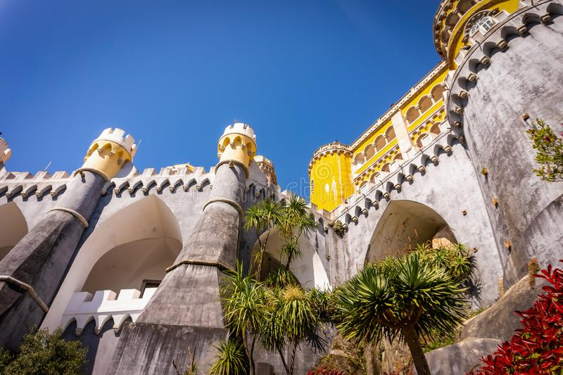 Palacio de Pena - palacio del Romanticist en Sintra, Portugal foto de archivo