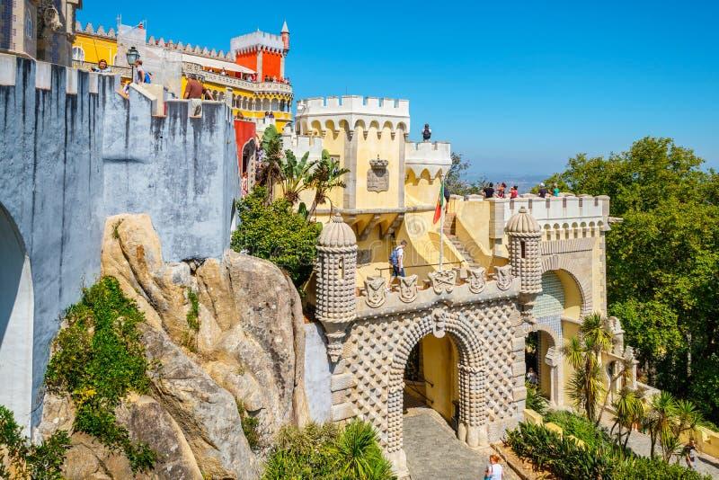 Palacio de Pena en Sintra portugal imágenes de archivo libres de regalías