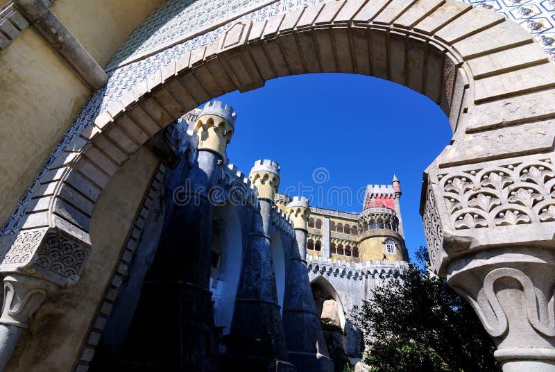 Palacio de Pena, Sintra fotografía de archivo