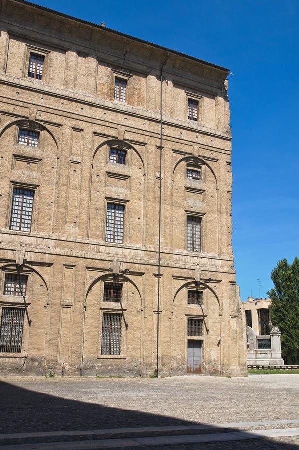Palacio de Pilotta. Parma. Emilia-Romagna. Italia. imágenes de archivo libres de regalías