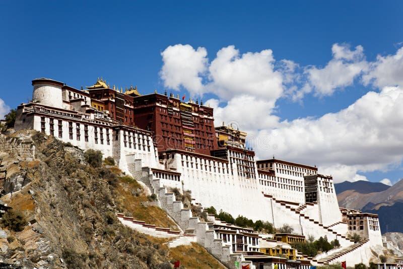 Palacio de Potala en Lhasa, Tíbet fotos de archivo libres de regalías