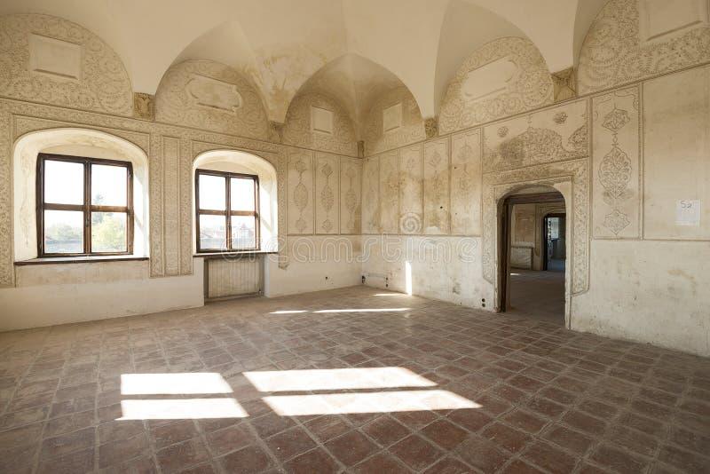 Palacio de Potlogi de Constantino Brâncoveanu, condado de DâmboviÅ£a, Rumania - interior foto de archivo libre de regalías