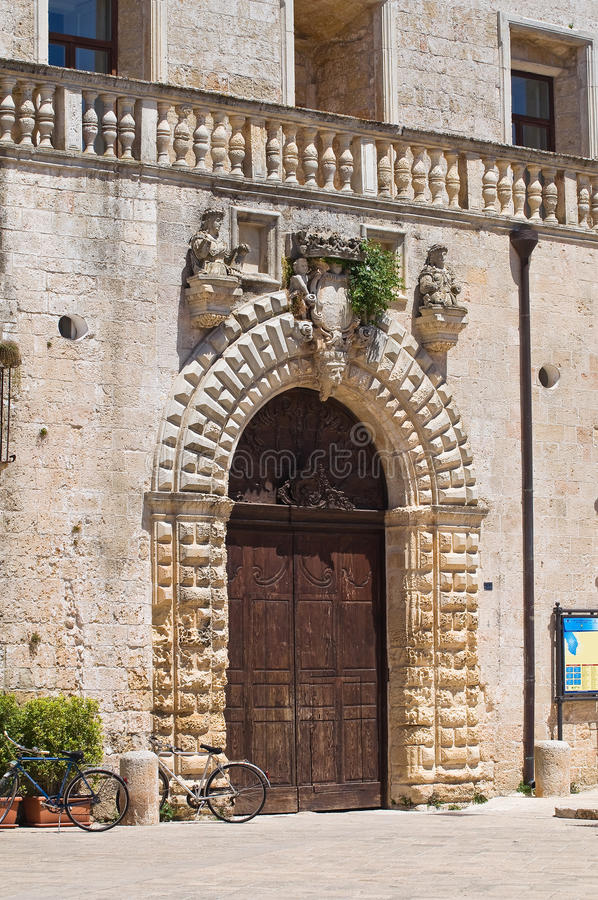Palacio de Risolo. Specchia. Puglia. Italia. fotos de archivo