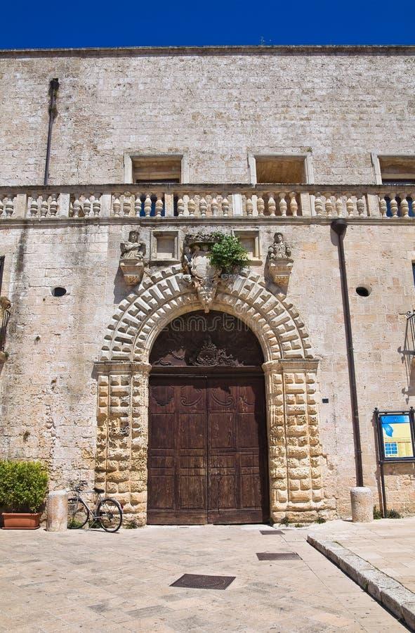 Palacio de Risolo. Specchia. Puglia. Italia. imágenes de archivo libres de regalías