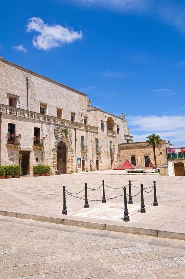 Palacio de Risolo. Specchia. Puglia. Italia. imagen de archivo libre de regalías