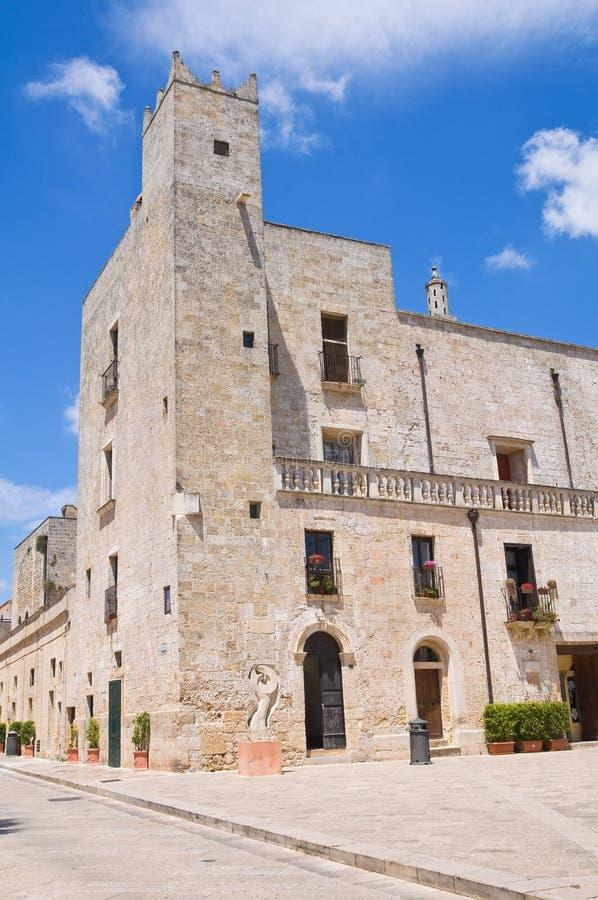 Palacio de Risolo. Specchia. Puglia. Italia. foto de archivo libre de regalías