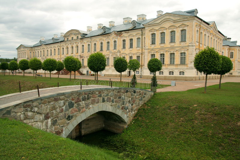 Palacio de Rundale fotografía de archivo