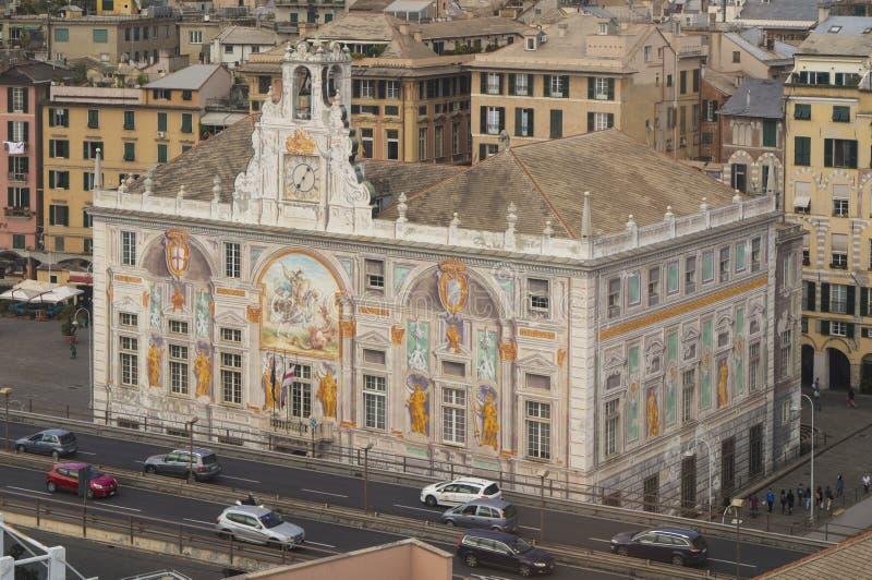 Palacio de San Jorge en Génova, Italia imagen de archivo libre de regalías