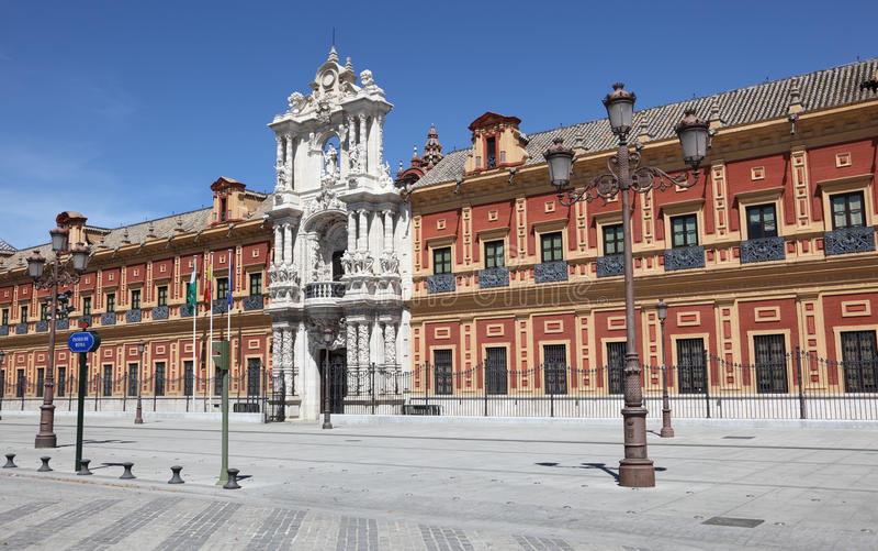 Palacio de San Telmo, Seville Spain stock photos