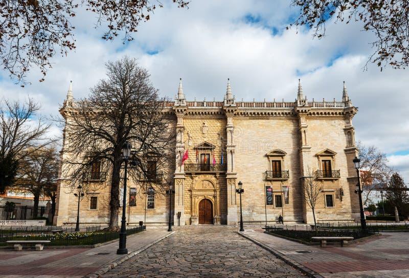 Palacio de Santa Cruz dell'università di Valladolid fotografia stock libera da diritti