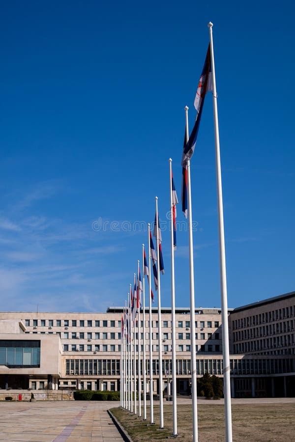 Palacio de Serbia en Belgrado, Serbia foto de archivo libre de regalías