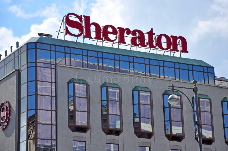 Palacio de Sheraton en Moscú imagenes de archivo