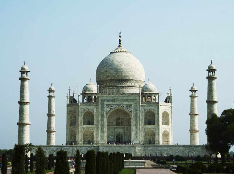 Palacio de Taj Mahal en la India foto de archivo