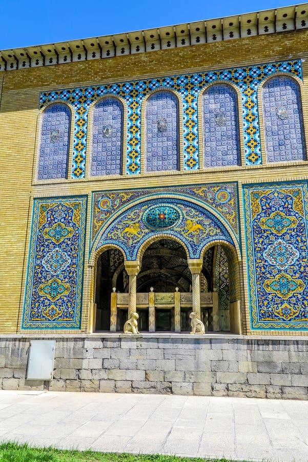 Palacio 05 de Teherán Golestan foto de archivo