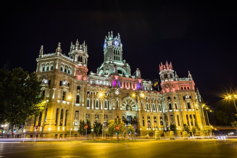 Palacio De Telecomunicaciones w Madryt fotografia stock