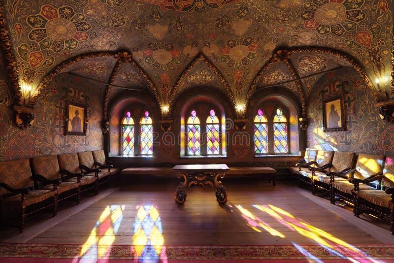 Palacio de Terem, interior lujoso fotografía de archivo libre de regalías