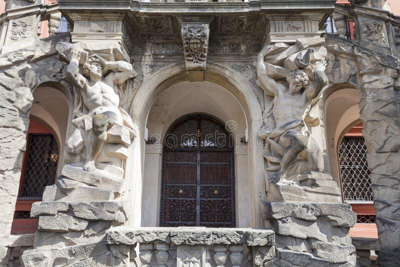 Palacio de Troja, entrada, Praga, República Checa imágenes de archivo libres de regalías