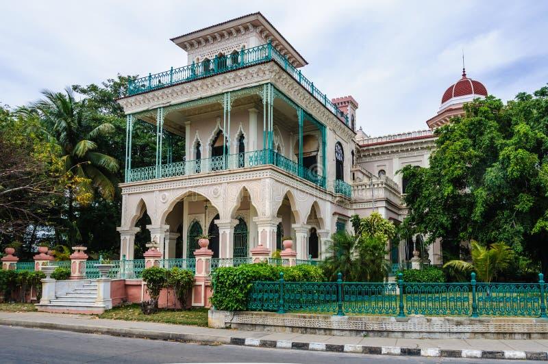 Palacio De Valle in Cienfuegos, Kuba stockfotografie
