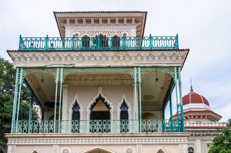 Palacio de Valle em Cienfuegos, Cuba fotografia de stock