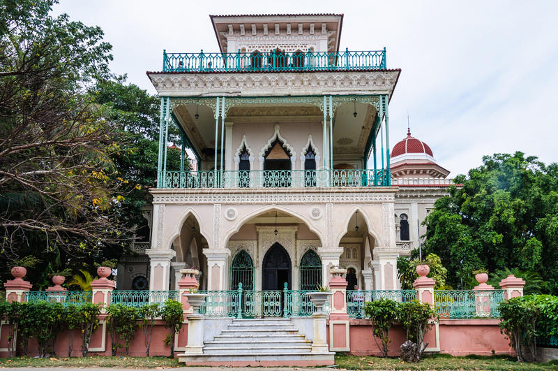 Palacio de Valle i Cienfuegos, Kuba arkivfoton
