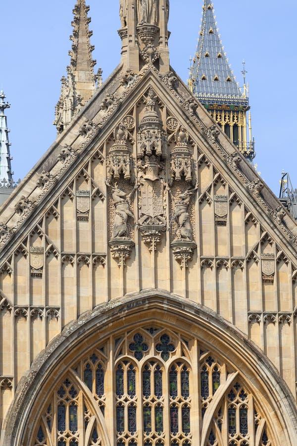 Palacio de Westminster, el parlamento, fachada, Londres, Reino Unido imágenes de archivo libres de regalías