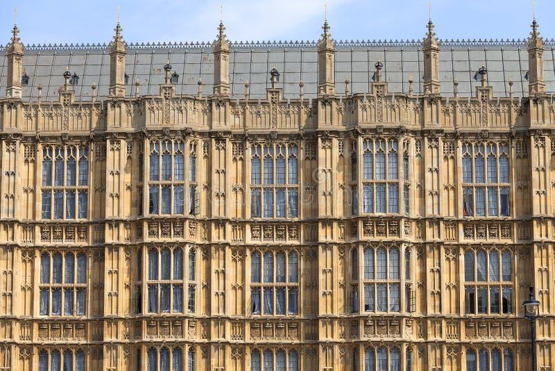 Palacio de Westminster, el parlamento, fachada, Londres, Reino Unido imagen de archivo