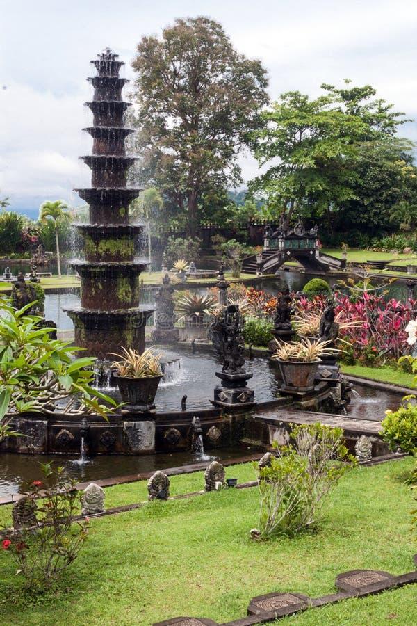 Palacio del agua de Tirtaganga en Bali fotos de archivo